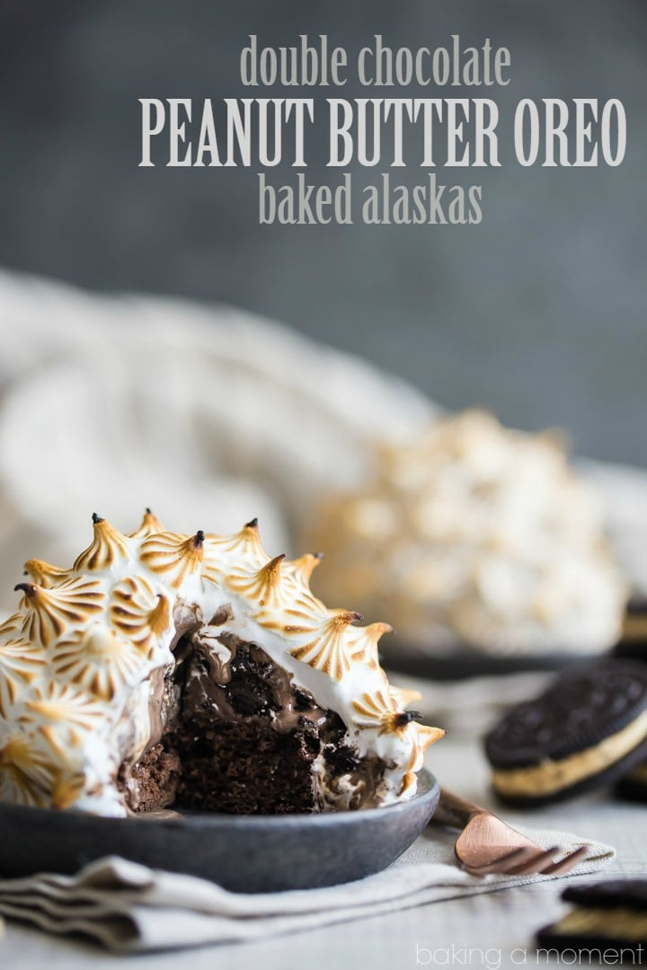Double Chocolate Peanut Butter Oreo Baked Alaska- WHOA! So many incredible flavors and textures going on here. Perfect for when you really want to impress. #BHGParty