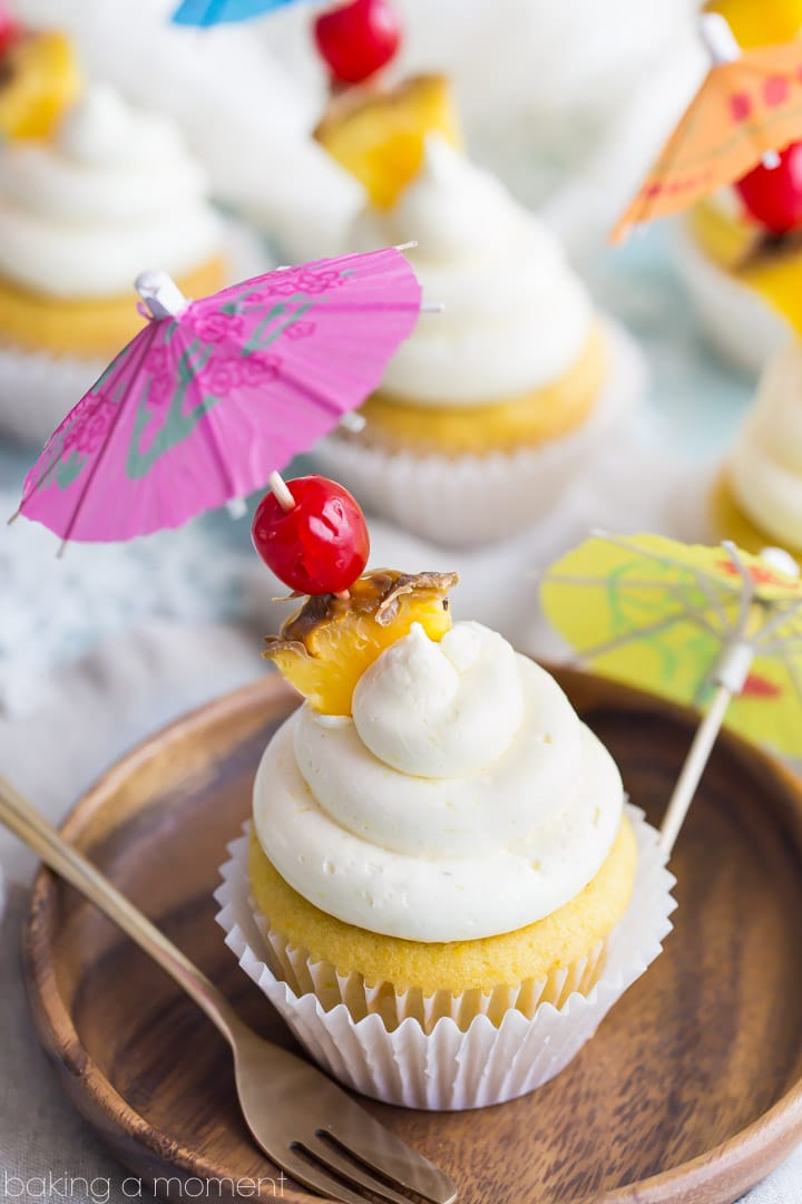 Tropical Pina Colada Cupcakes Baking A Moment