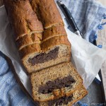 Chocolate Peanut Butter Cheesecake Stuffed Banana Bread