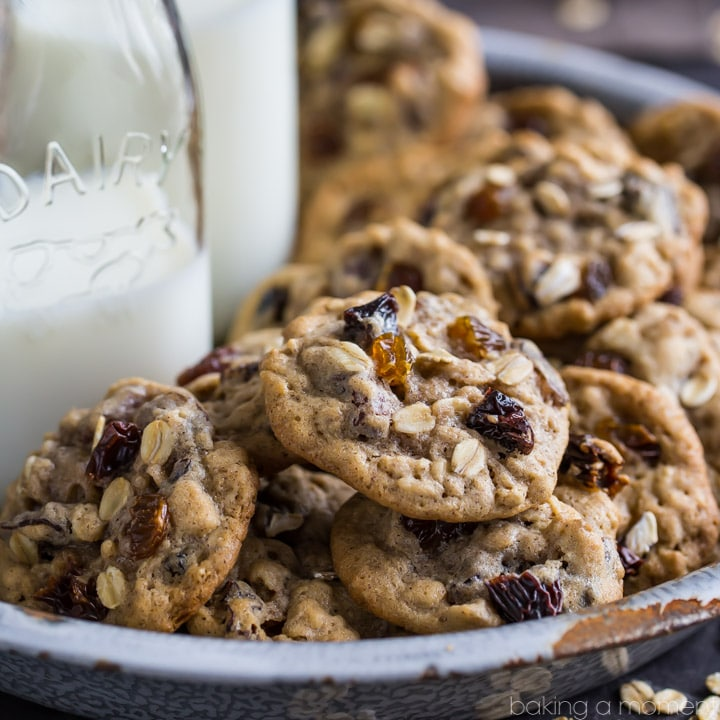 Soft & Chewy Oatmeal Raisin Cookie Recipe