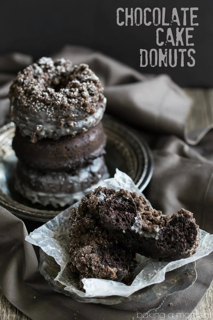 The most chocolate-y baked donuts ever! I loved the crumb version but the glazed was really good too, and so was the plain chocolate!