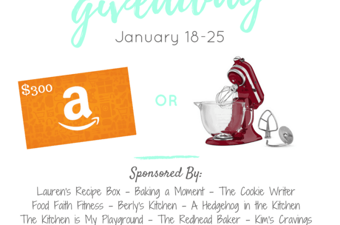 Giveaway - KitchenAid Mixer OR $300 Amazon Gift Card