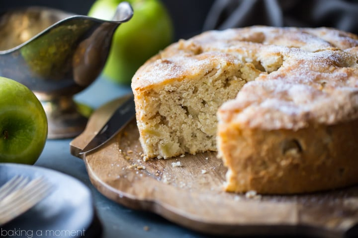 I made this Irish Apple Cake for St. Patrick's Day, but honestly it was so good I'd eat it any time of year! There was just a hint of cinnamon, allowing the tart apple flavor to really shine. The whiskey hard sauce was the perfect creamy compliment! food desserts cake #ad @stemilt