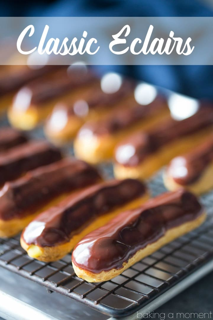 These eclairs are perfection!  A flawless recipe- everything from the pastry to the filling to the glaze came out perfectly.  food desserts chocolate