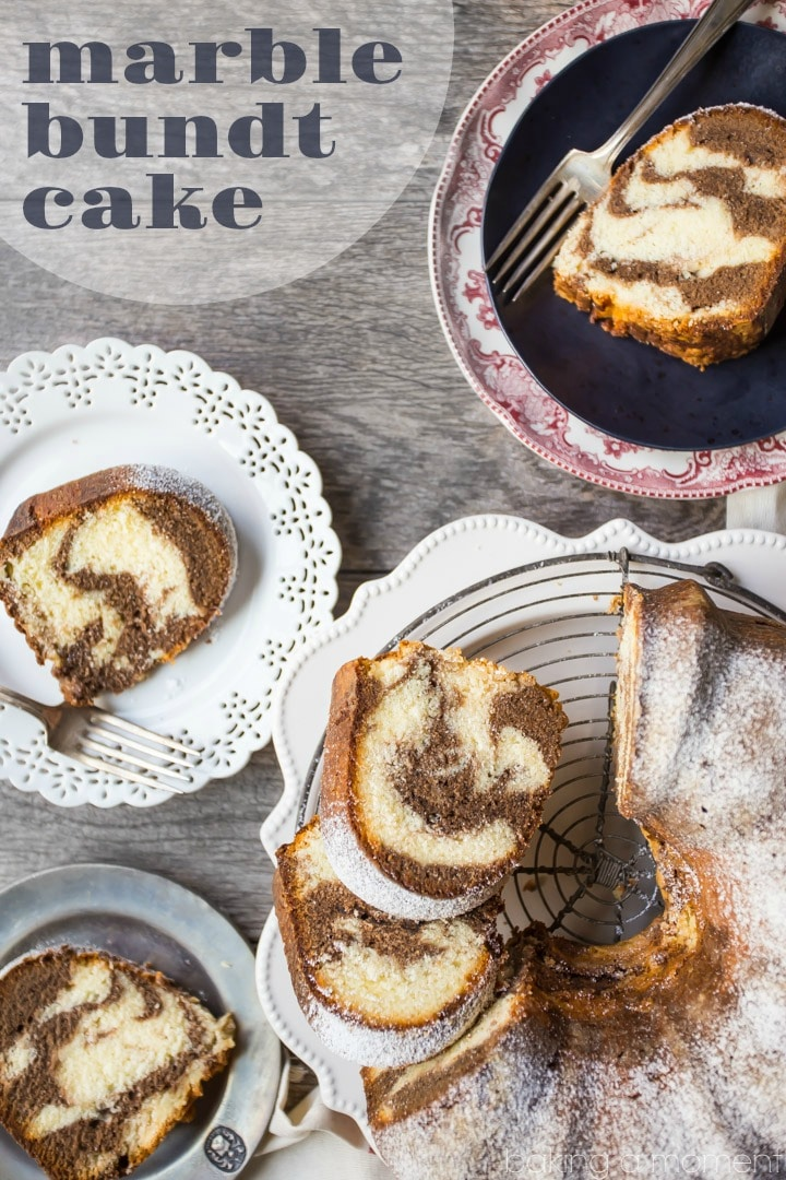Marble Bundt Cake: This pound cake was soooo buttery it practically melted in my mouth! food desserts cake