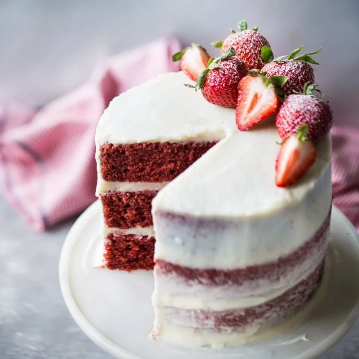 Red Velvet Cake With Cream Cheese Frosting Baking A Moment