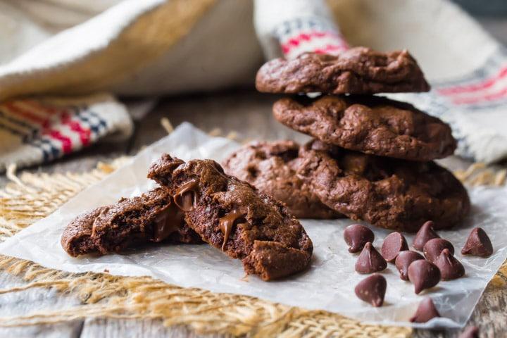 Fudge brownie cookies no box mix