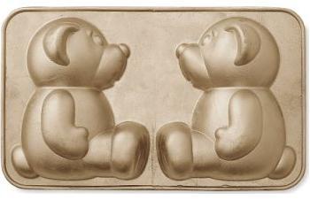 Forma de bolo para ursinhos em 3D