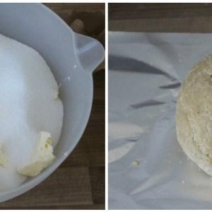 Rhabarberkuchen mit Baiser aus Mürbeteig - Teigzubereitung