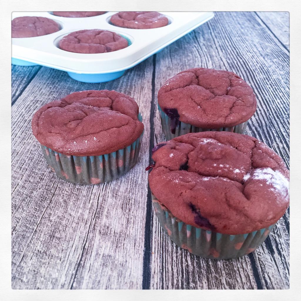 Vegane Muffins mit Heidelbeeren
