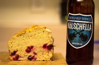 Kölschella Cranberry Lemon Beer Bread