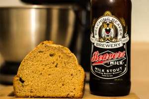 milk stout beer bread