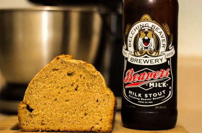 milk stout beer bread