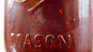 Tart Of Darkness Jam mason jar