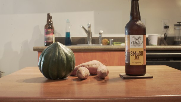 smash ipa and veggies
