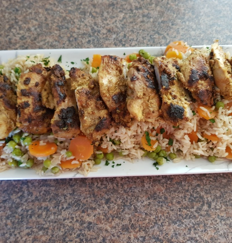 tandoori chicken with veg pilaf 1