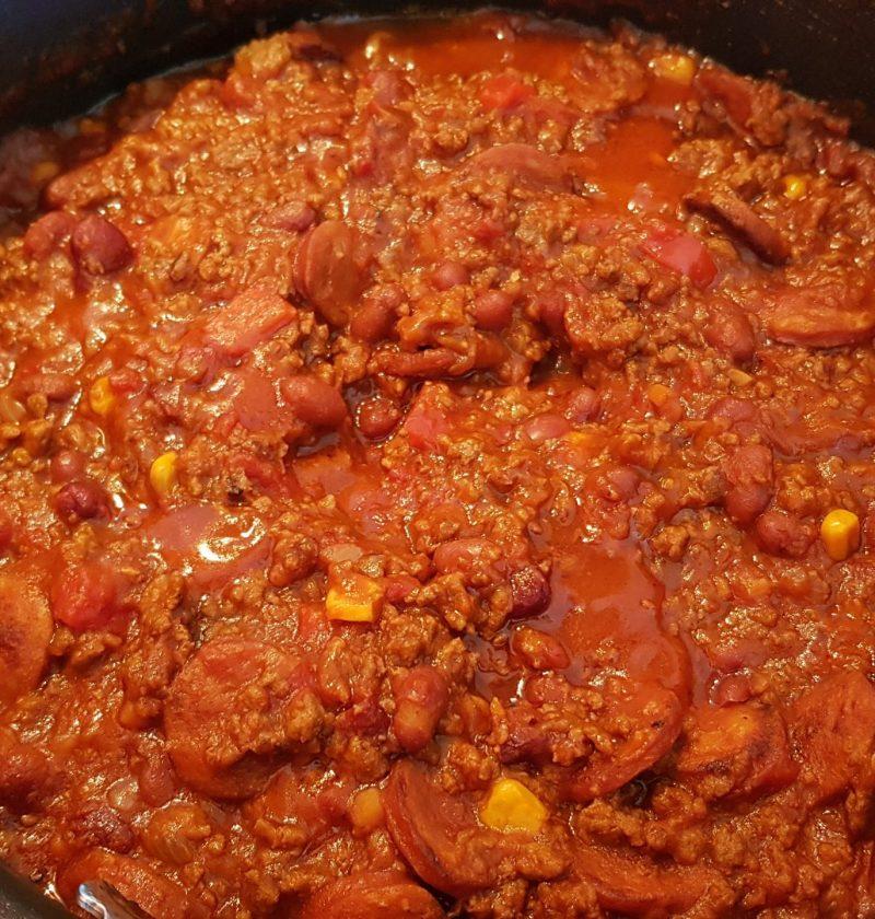 my version chilli con carne