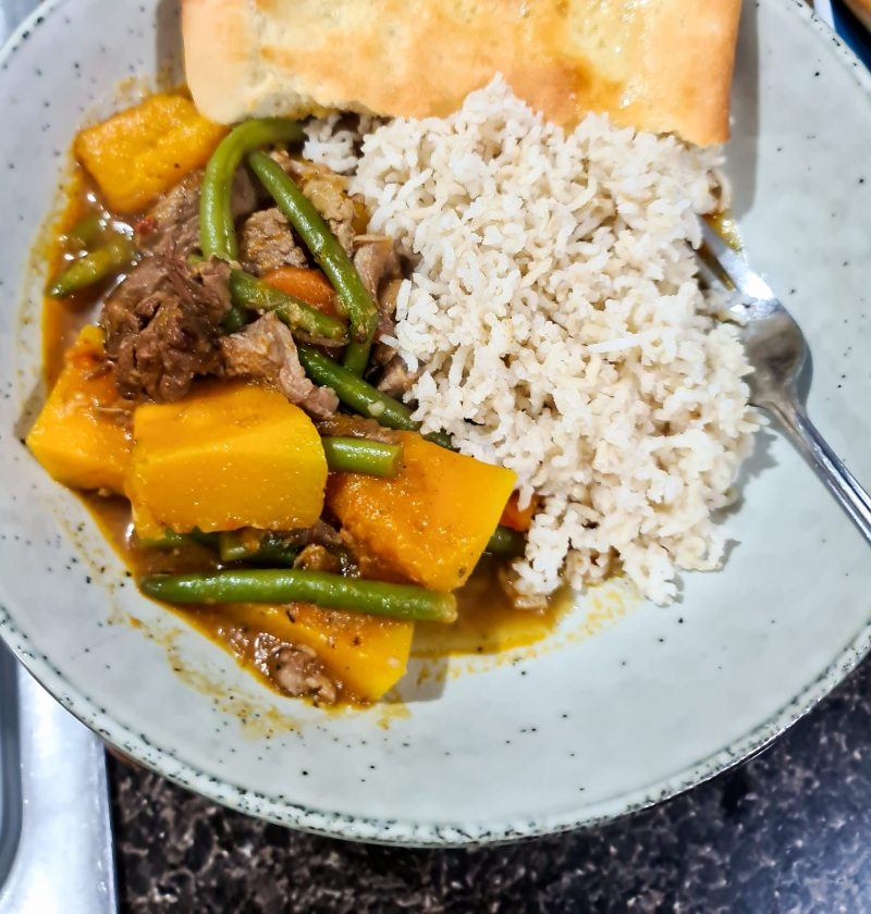thai inspired beef curry