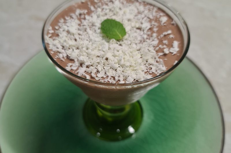 Spiced chocolate , black pepper and coffee mousse