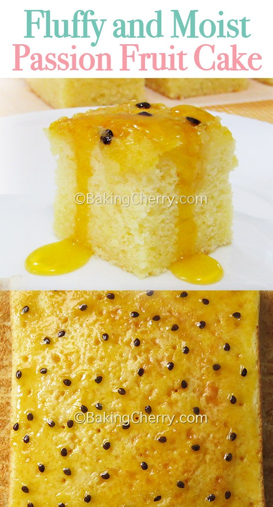 Fluffy And Moist Passion Fruit Cake Gluten Free Option