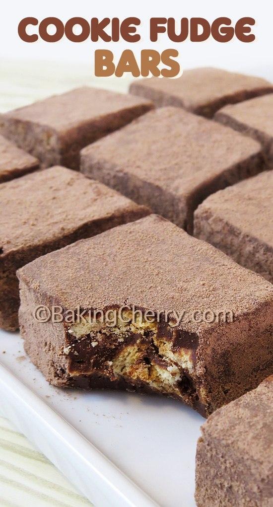 3 Ingredient No Bake Cookie Fudge Bars Baking Cherry