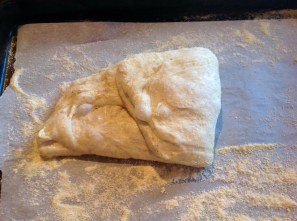 (I) Folding the dough to the middle