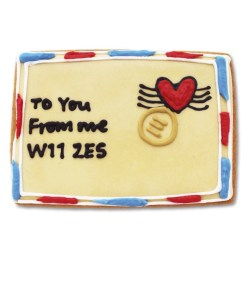 Personalised Love Letter Biscuit