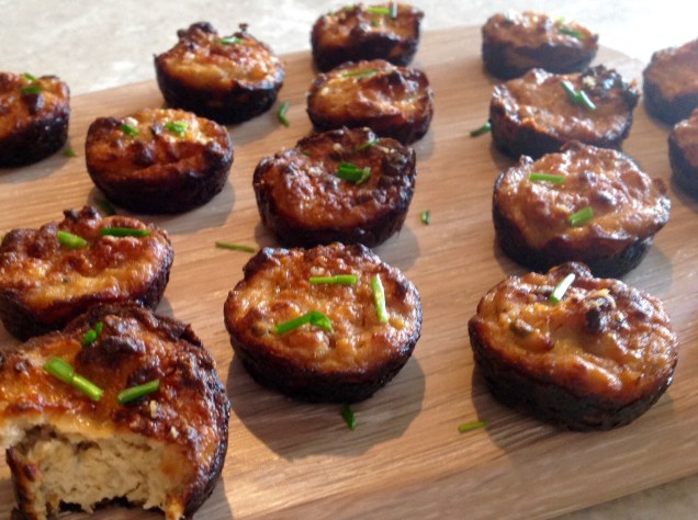 Cauliflower cheese & roasted garlic bites