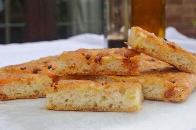 Chorizo & Parmesan focaccia