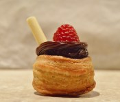 dark chocolate & raspberry vol-au-vents