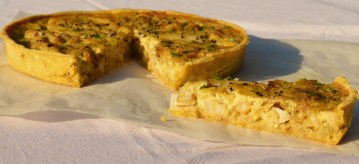 Spiced smoked cod & fennel tart