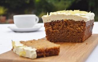 Stem ginger & lime cake