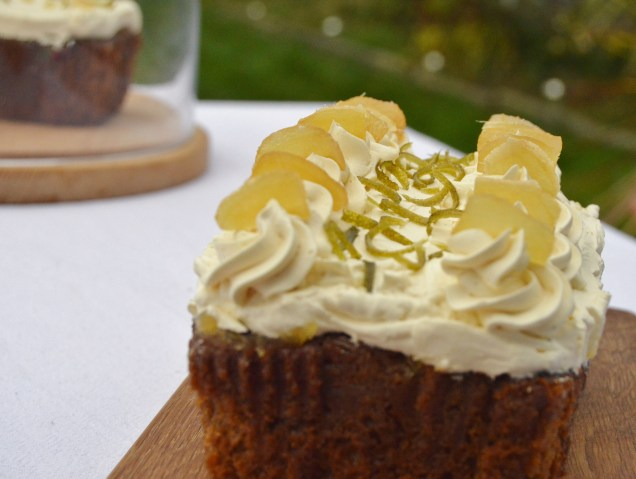 Stem ginger & lime cake