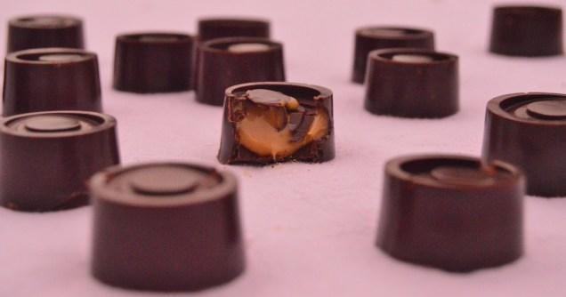 smoked sea-salted caramel chocolates