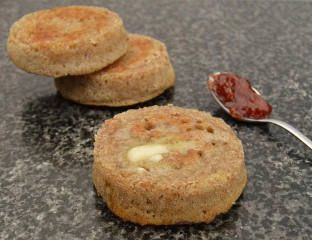 wholemeal sourdough crumpets