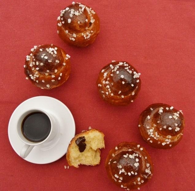 Chocolate & cherry brioches