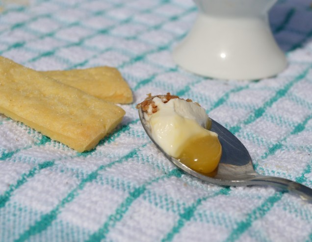 """Mango and lime """"egg cup"""" desserts"""