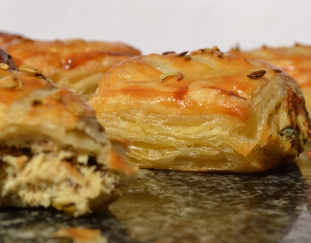 smoked mackerel pastries