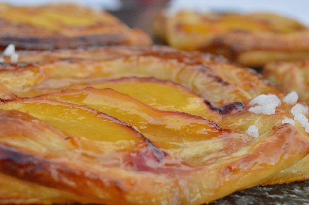 Easy peach danish pastries