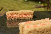 Salmon sandwiches with shrimp butter