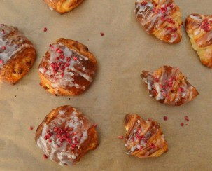glazed lemon & raspberry viennoiserie
