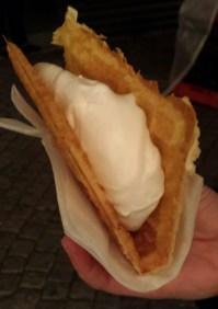 GDR waffle with vanilla cream