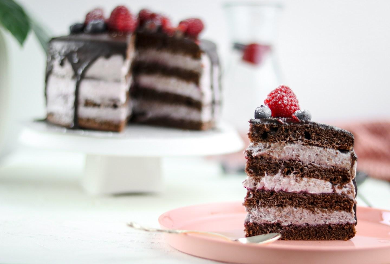 Schoko Brombeer Tortchen Hochzeits Naked Cake Im Mini Format