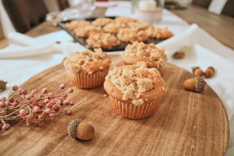Apfel-Zimt Muffins mit Streuseln