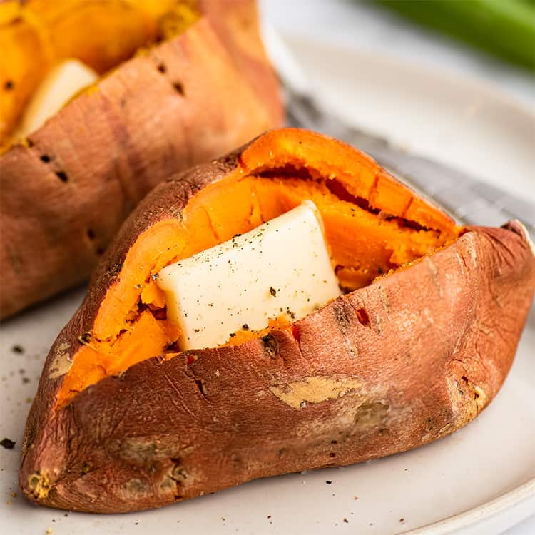 how to make a microwave sweet potato