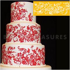 Natures Vignette Side Cake Stencil