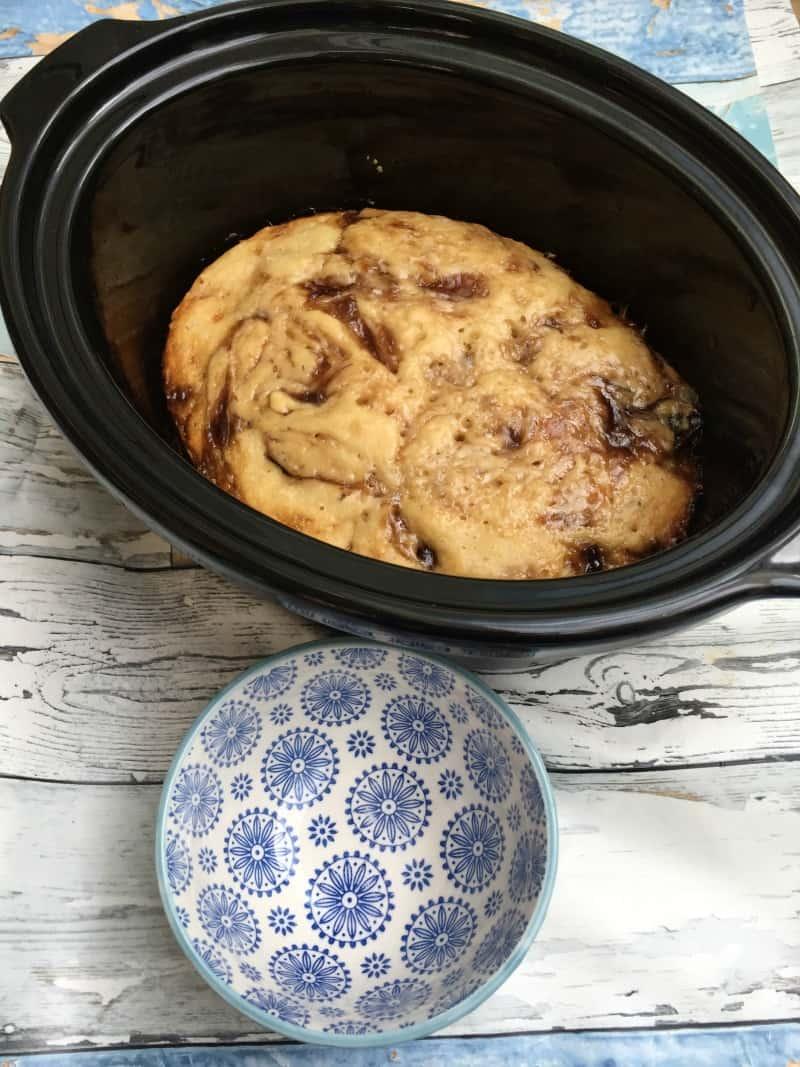 Slow Cooker Jam Swirl Cake