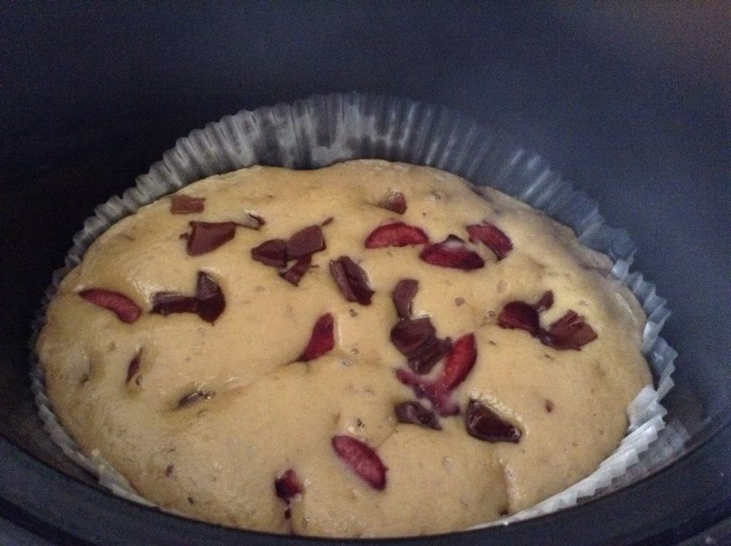 Slow Cooker Chocolate Cherry Blondies