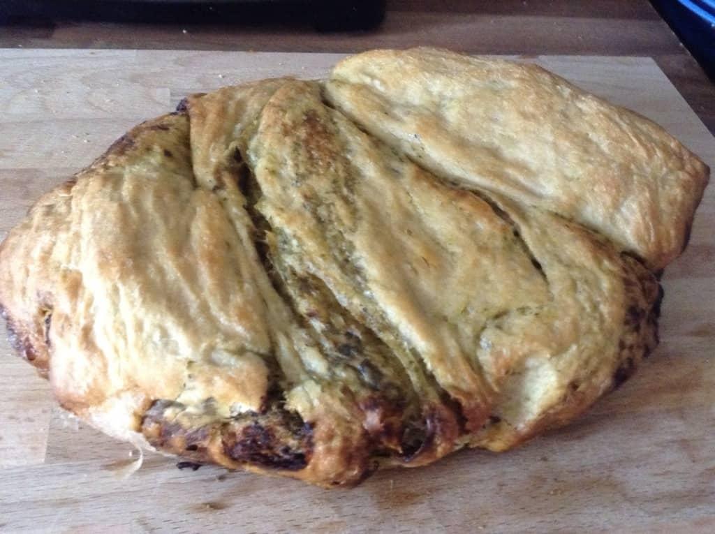 Slow Cooker Pesto Twist Loaf