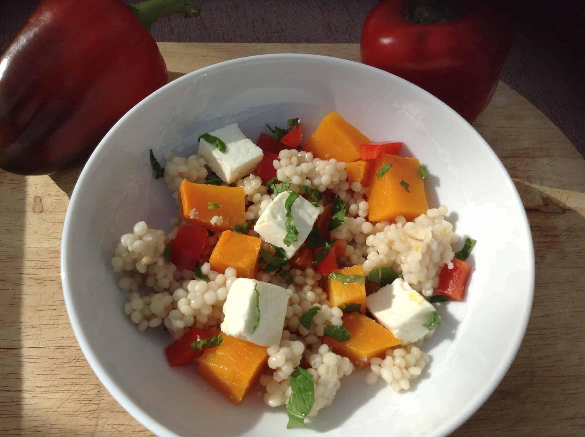 Butternut Squash and Feta Giant Couscous Salad